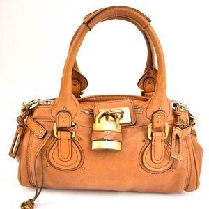 "CHLOE ""Paddington"": Brown, Leather & Logo Tote my"